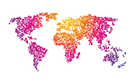 World map squares color gradient royalty free cliparts vectors and world map squares color gradient royalty free cliparts vectors and stock illustration image 50193685 gumiabroncs Image collections