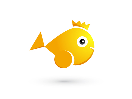 goldfish with crown Ilustracja
