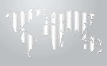 lineas verticales: mapa del mundo líneas verticales