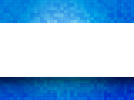 checkered label: blue checkered background with label