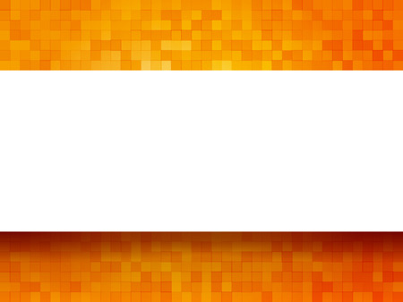checkered background: orange checkered background with label
