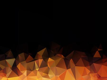 forme geometrique: orange, résumé fond noir