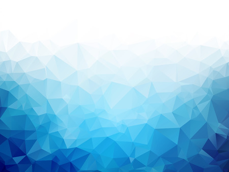 Geometric blue ice texture background