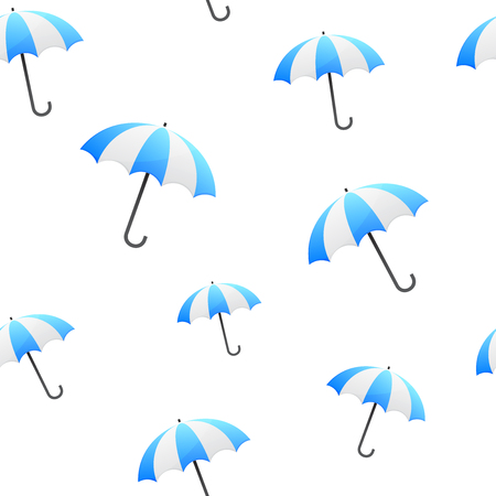 blue umbrella seamless background