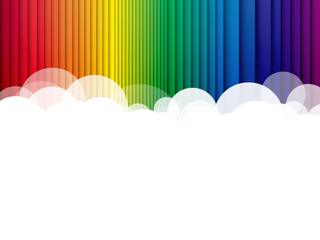 rainbow abstract: Abstract clouds background rainbow stripes Illustration
