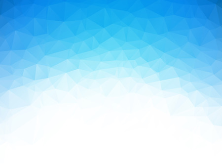low poly blue ice texture background Vectores