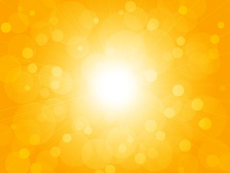 brightly: summer brightly blur ray yellow background Illustration