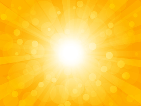 brightly: Summer brightly background with rays Illustration