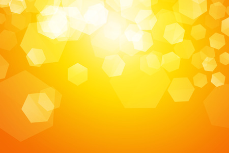 yellow sparkle blur hexagon background