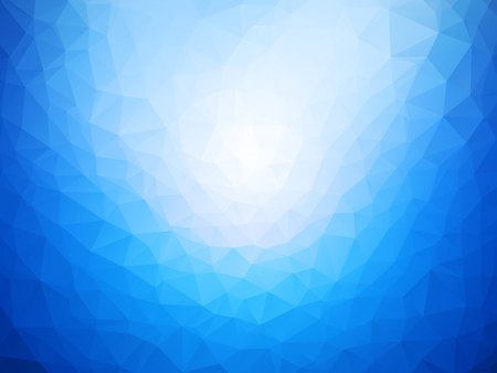 blue white low poly background