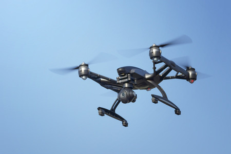 drone with a camera in flight