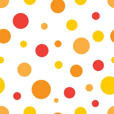 red yellow: orange red yellow circles seamless background