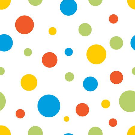 colorful circles seamless background Ilustração