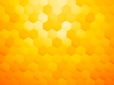yellow hexagon abstract background