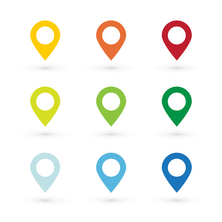 map pin: color map pin