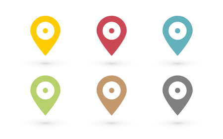 map pin: color map pin with dot