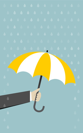 weatherproof: Hand with umbrella rain protection Illustration