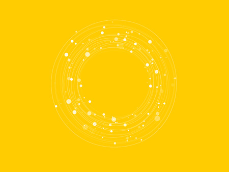 wallpaper dot: white circles with dots on yellow background