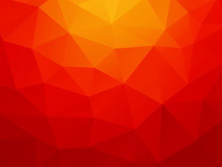 low poly fond orange rouge Vecteurs