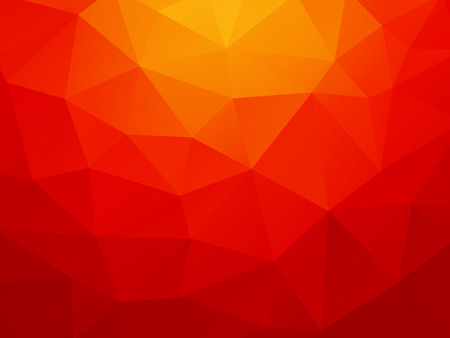 low poly orange red background