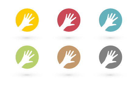 colorful hands in circle icon