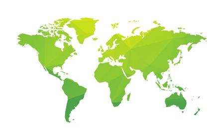 green world: green world map Illustration