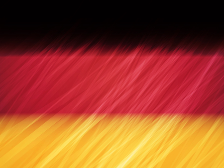 Germany flag with stripes brush strokes