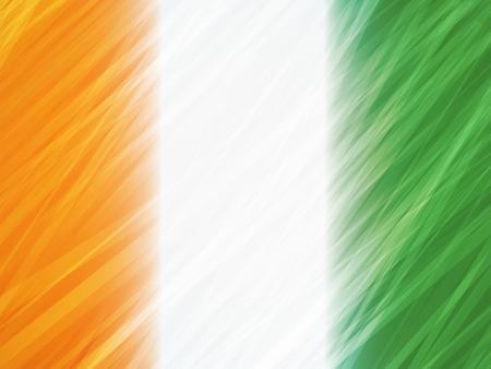 ireland flag: Ireland flag with stripes brush strokes