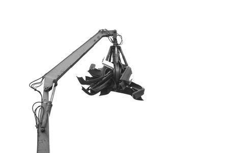 metalschrott: Kran mit Müll Auto scrapyard