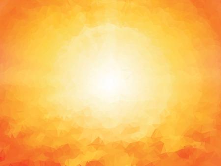 summer orange geometric background Vectores