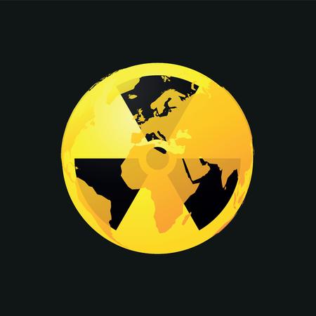 mundo contaminado: Planeta radioactivo icono