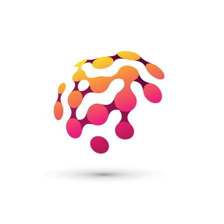 Color brain logo illustration Logo
