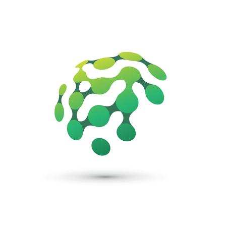 Ilustración del logotipo de cerebro verde Logos
