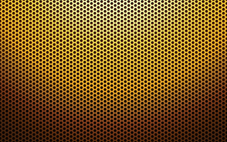 perforated: Cool gold metal perforated texture