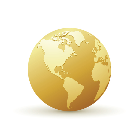 golden world globe america