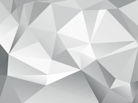 灰色の背景は幾何学的抽象の低ポリ