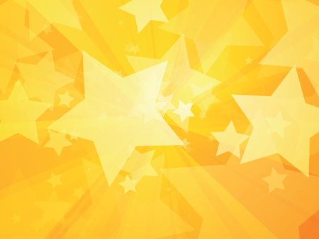 rays and stars yellow background