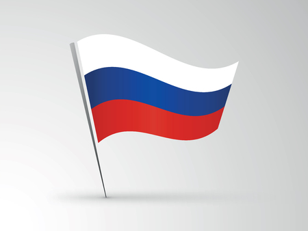 european culture: Russian flag illustration. Illustration