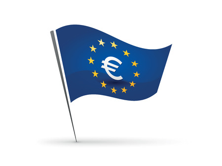Flag with euro symbol