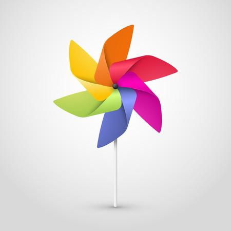 color pinwheel Stock Illustratie