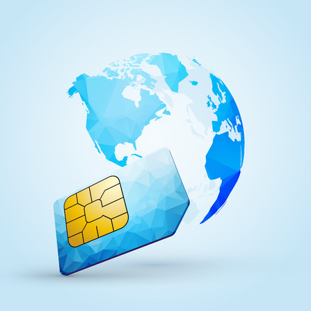 Sim card for global communication illustration