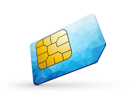 blue sim card Illustration