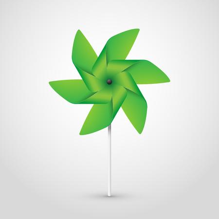 green pinwheel Illustration