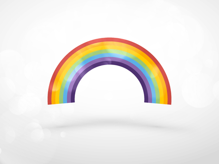 Colorful rainbow color spectrum icon vector illustration.