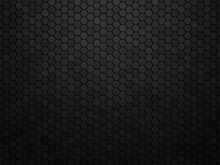 Streszczenie czarne tekstury tła sześciokąt Ilustracje wektorowe