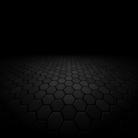 Abstract floor perspective black texture background