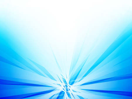 Abstract rays in blue background Illustration