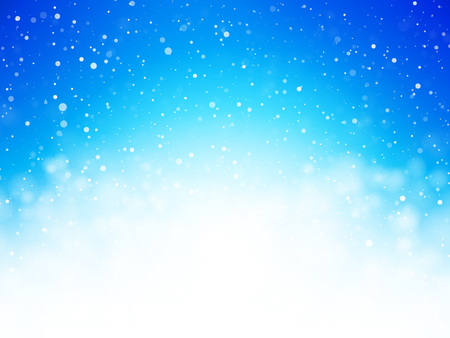 abstract blue bokeh winter background