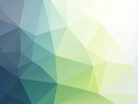 柔らかい緑の三角形の幾何学的壁紙