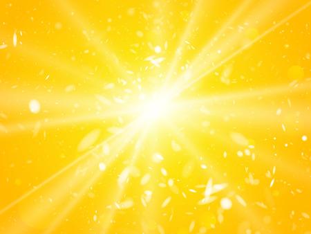 sun light rays and dust summer background Illustration